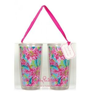 NWT Lily Pulitzer Insulated Tumbler Set